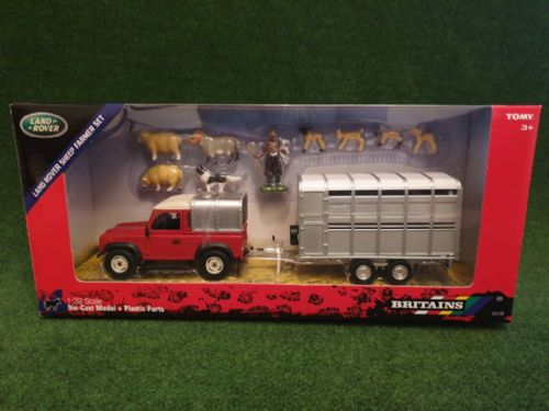 Landrover & Trailer Farm Set